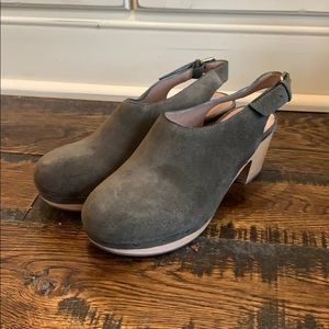 Madewell The Marlo Slingback Clog in Suede AA169